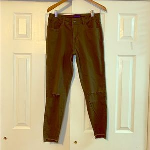 Forest Green Distressed Jeggings Size Small